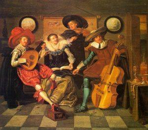 Musicians by Dirck Hals (1591 - 1656)